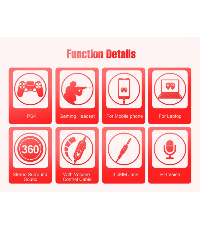 OVLENG OV-P7 هدست بازی سیم دار با میکروفن مناسب PS4, Xbox One