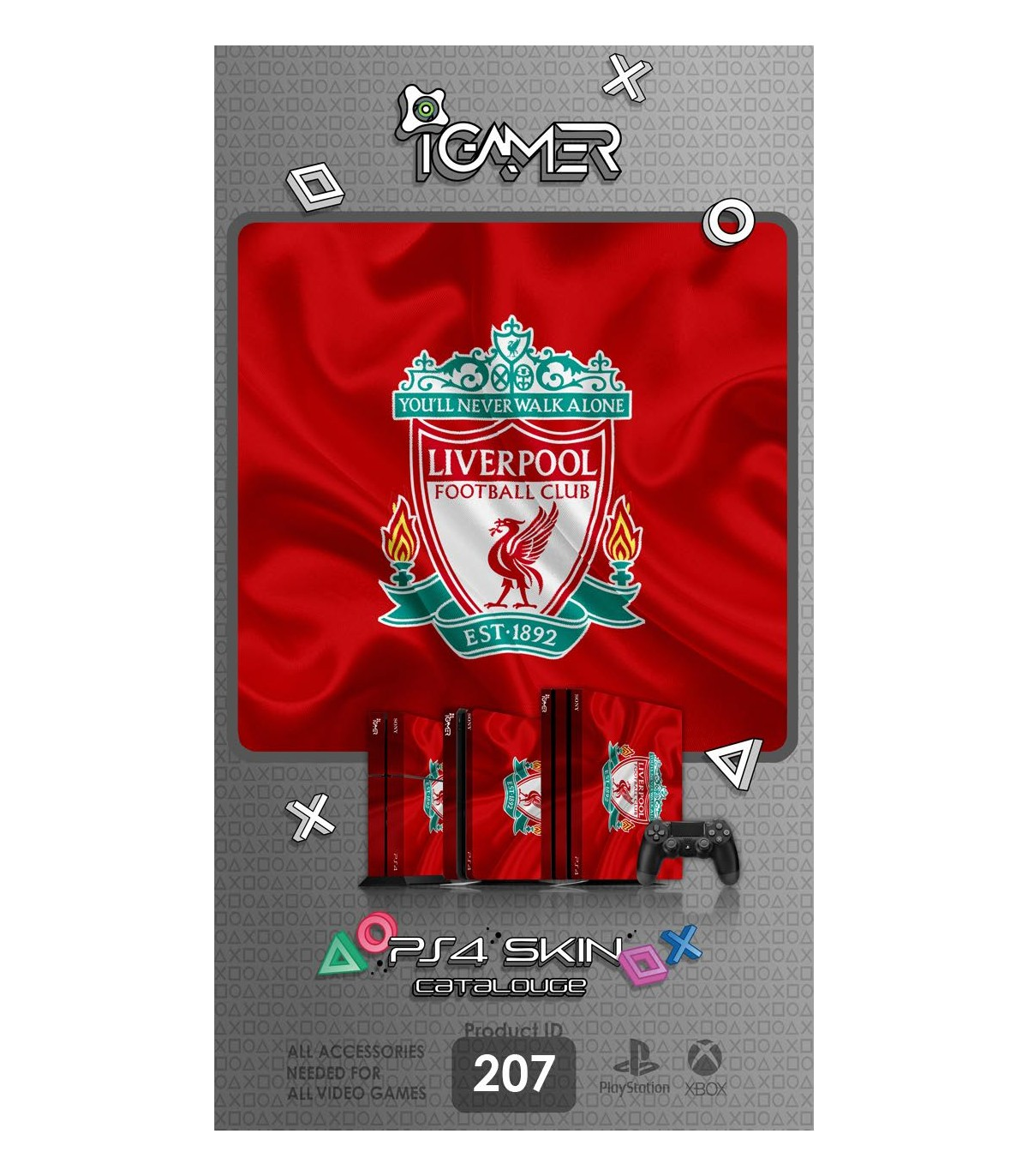 اسکین PS4 آی گیمر طرح Liverpool