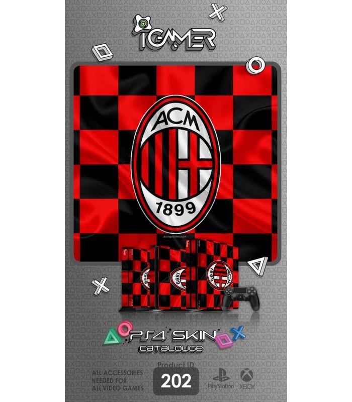 اسکین PS4 آی گیمر طرح AC Milan