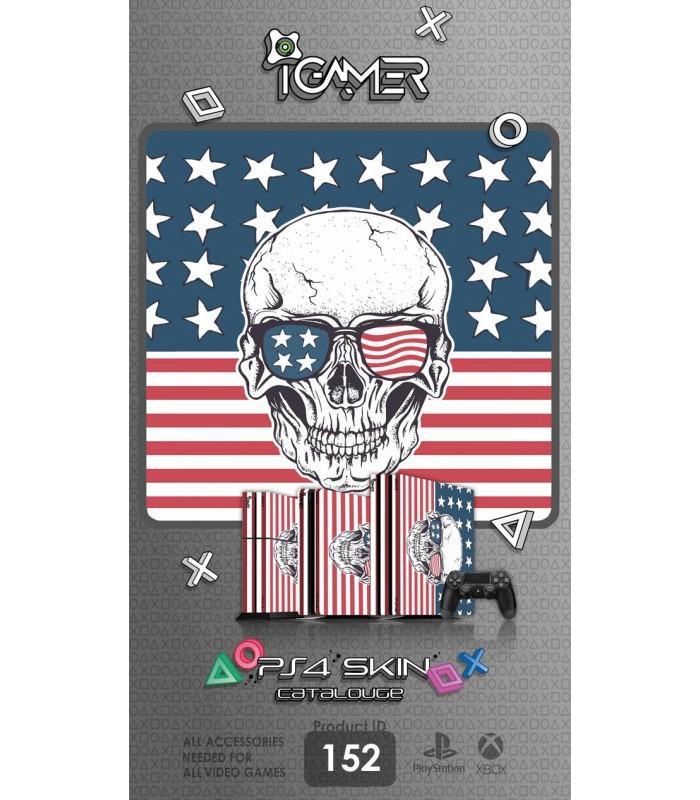 اسکین PS4 آی گیمر طرح اسکلت پرچم آمریکا