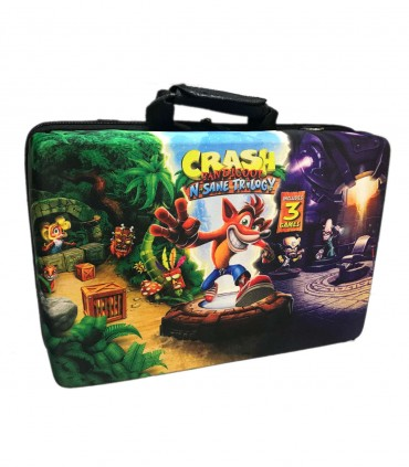 کیف حمل پلی استیشن 5 طرح Crash Bandicoot