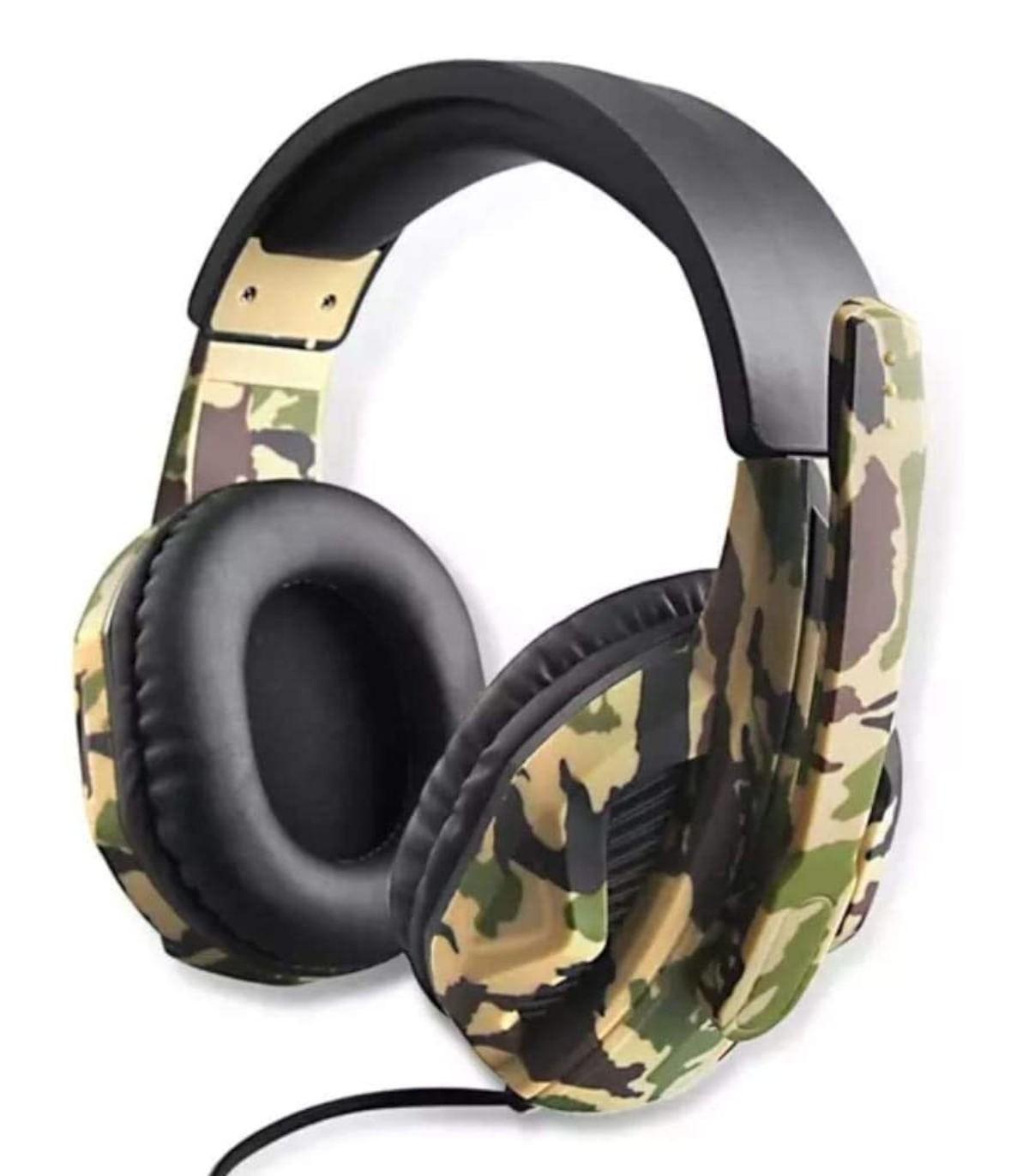 هدست OIVO Stereo High Power Bass با میکروفن طرح Army Green مدل