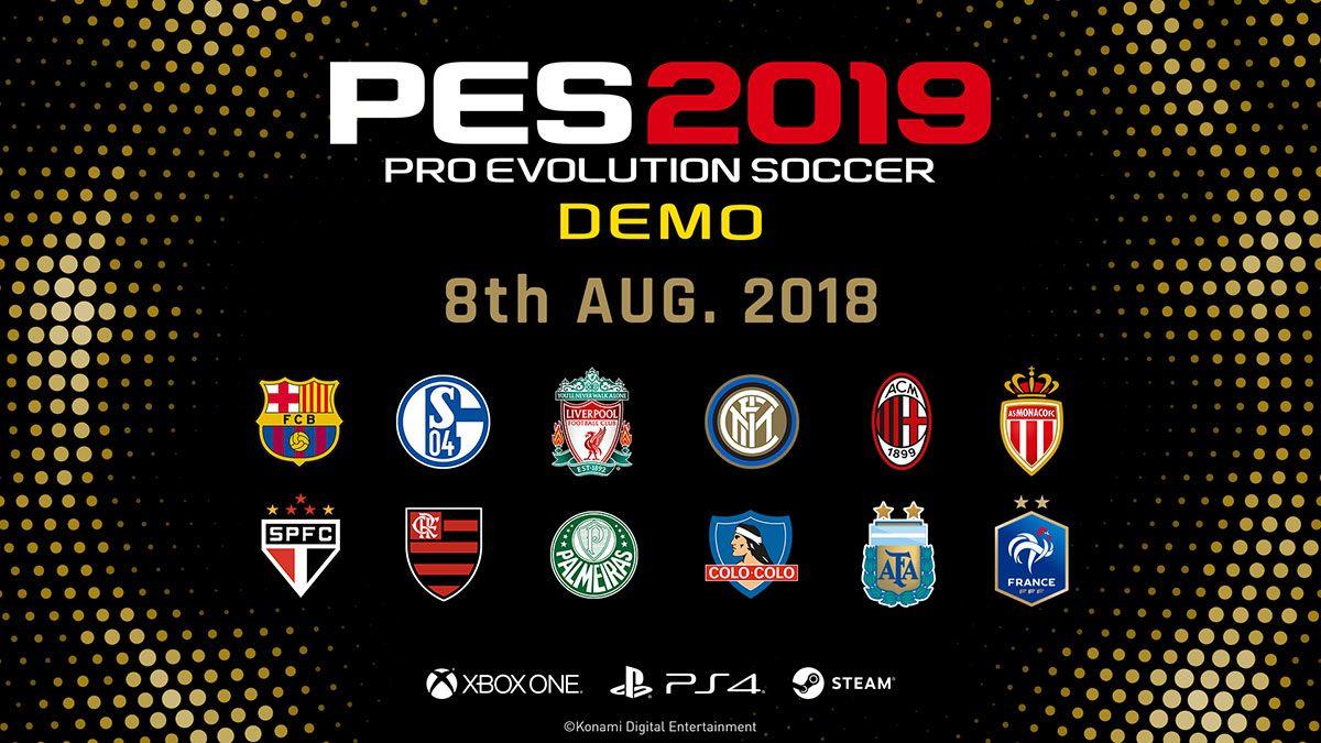 تیم های باشگاهی بازی pes 2019