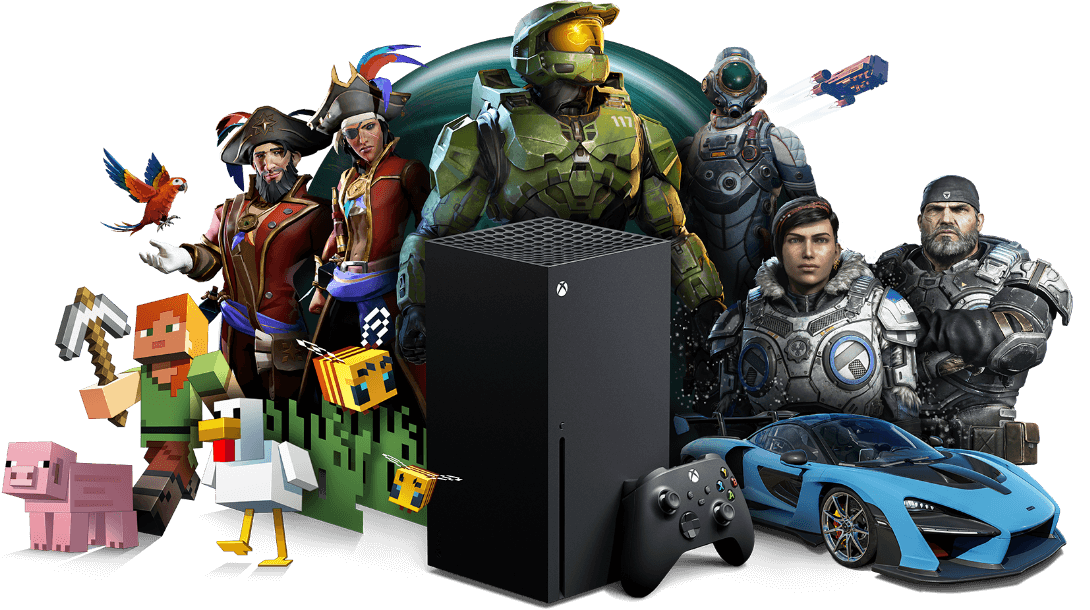 Xbox All Access, Xbox Series S with Xbox game characters